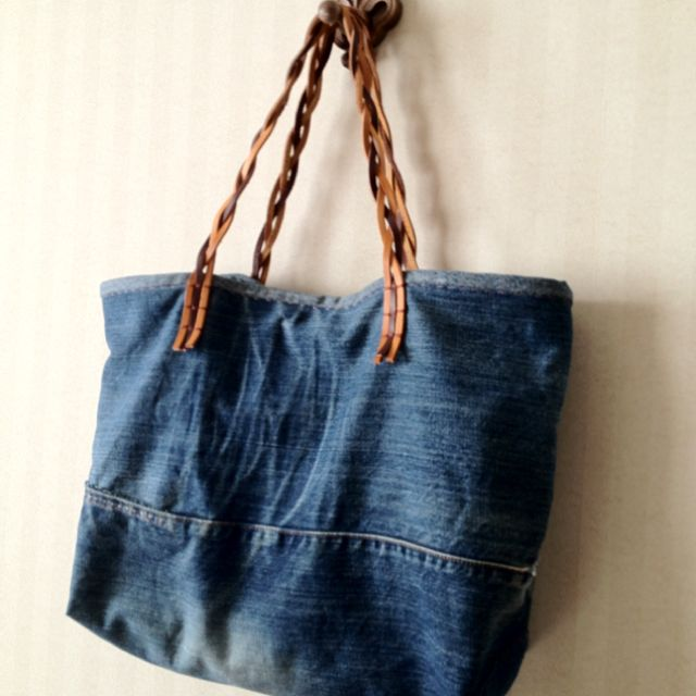 Upcycle jeans bag sew projects pinterest for Jeans upcycling ideas
