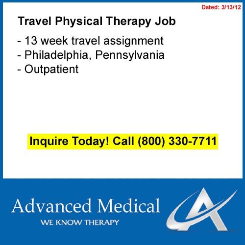 travel physical therapist philadelphia jobs