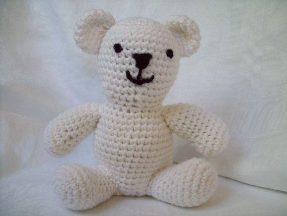Crocheting Stuffed Animals : Crochet Bear Stuffed Animal by CrochetByJulia, $15.00