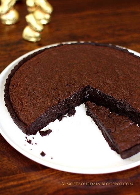 dark chocolate souffle tart | Desserts | Pinterest