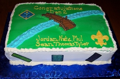 Cub Scouts crossover to Boy Scouts By bbmom on CakeCentral.com