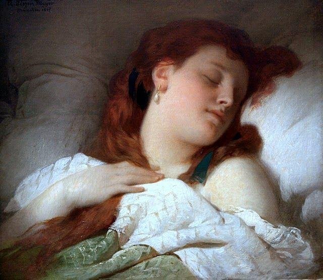 Sandor Liezen Mayer - Sleeping Woman, 1896