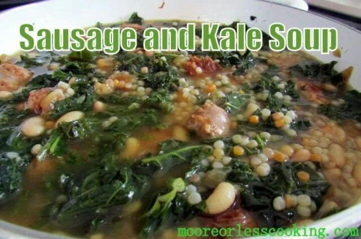 Kale With Sausage And White Beans Recipe — Dishmaps