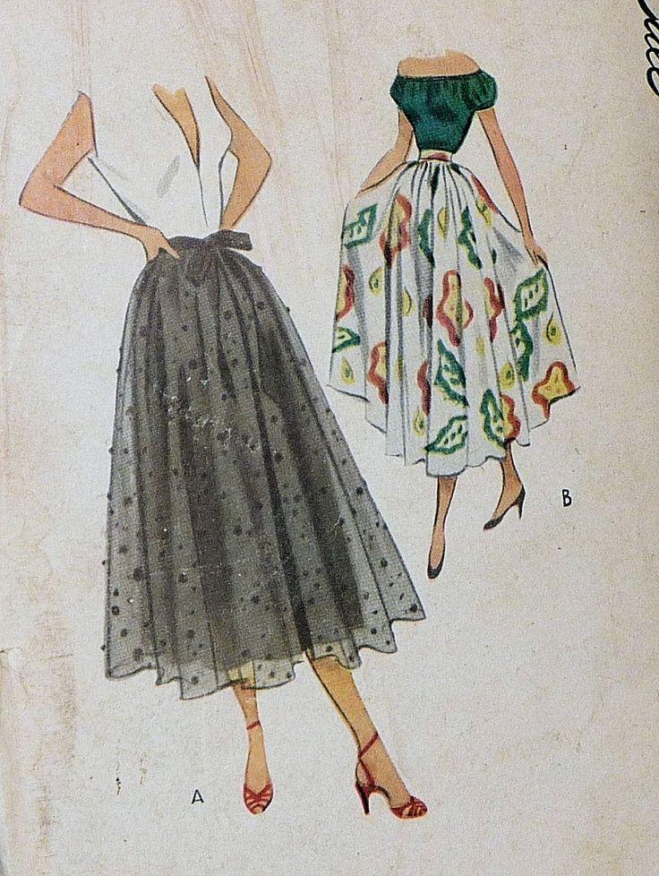 1940s Skirt Pattern Women 39 S Trend Pinterest