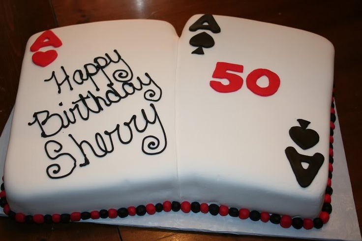 playing card cake Card Party Ideas Pinterest