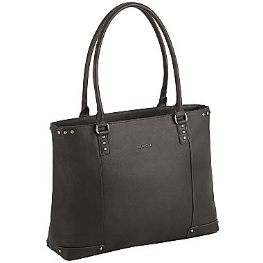 16 quot leather laptop tote jcpenney laptop friendly