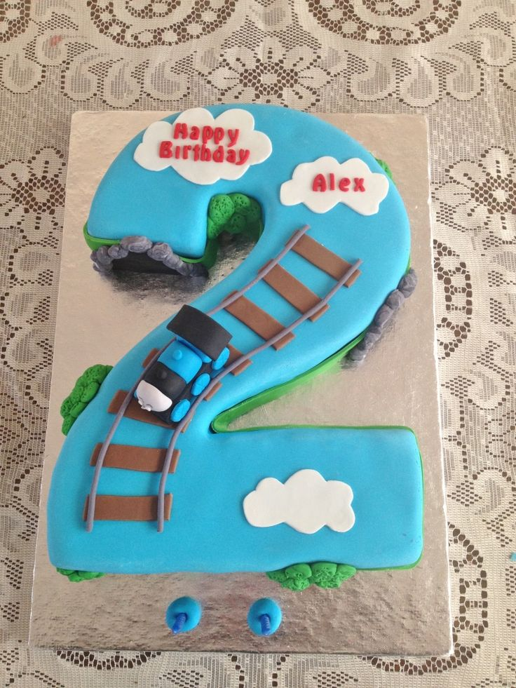 Cake Designs Number 2 : Number 2 cake Baking Ideas Pinterest
