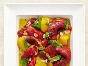 Roasted Peppers with Basil Recipe : Food Network Kitchen