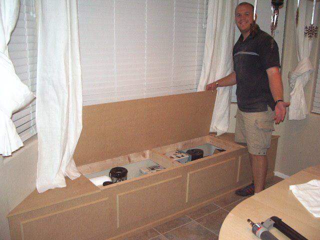 how to build a cozy window seat with secret storage http www