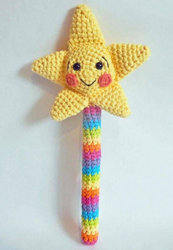 Crochet Patterns Toys : Crochet Toy Pattern: Amigurumi Magic Wand with Crochet Star PDF Insta ...