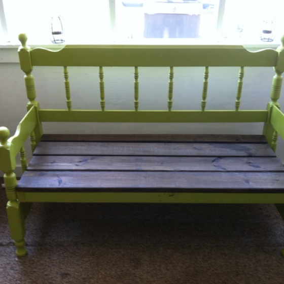 Bench Made From An Old Headboard Footboard I Have A Vintage Blond Bookcase Headboard That I