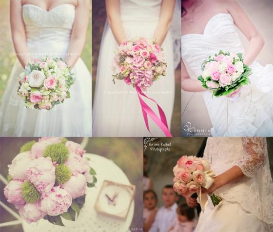 bouquet mariée rose signification fleurs  rose  Pinterest