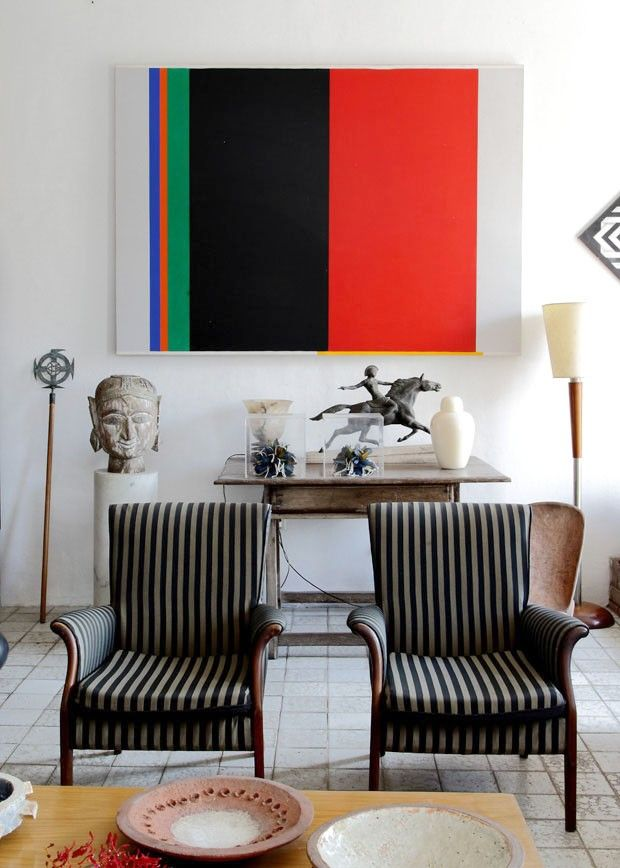 A casa de Janete Costa e Acácio Borsoi, em Olinda
