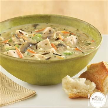 Creamy Chicken and Wild Rice Chowder by The Power of Family Meals