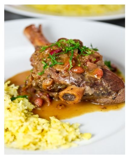 Braised lamb shanks in cranberry. | iFoodie | Pinterest