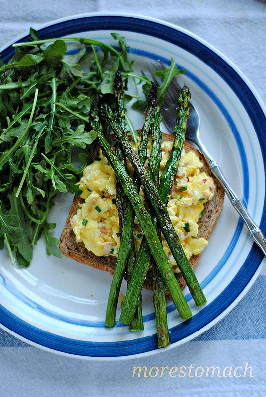 Scrambled Egg Tartines With Parsley & Garlic Mushrooms Recipes ...