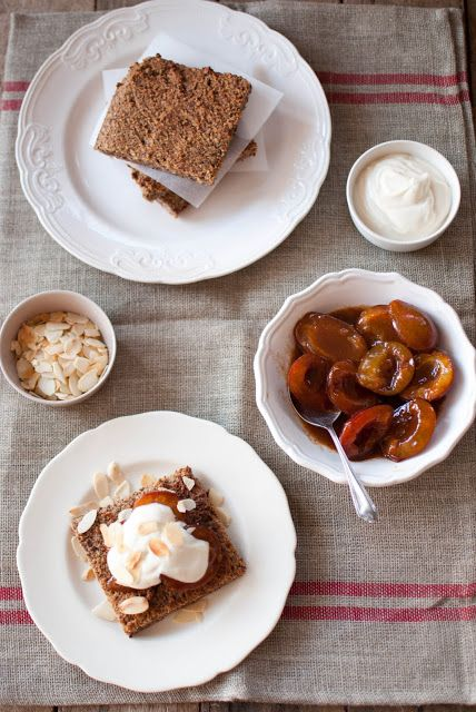 Scandi Home: Bitter almond tarts with sugar plums and honey ricotta