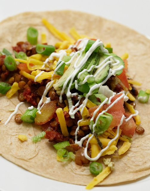 """Taco's with Spicy Lentil """"Meat"""" by Eric Isaac, via Flickr"""