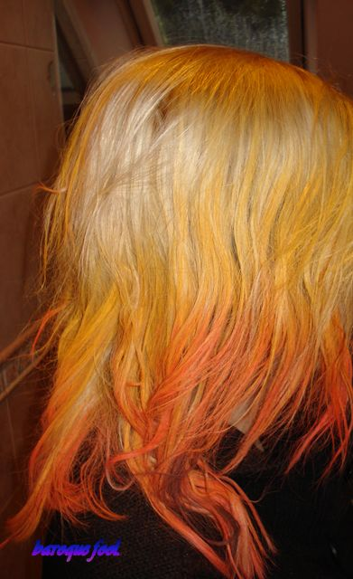 Hair chalk ombre - Girl on fire | Hair of the day | Pinterest