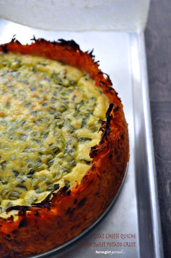 Goat Cheese Quiche with Sweet Potato Crust – #VirtualPotluck