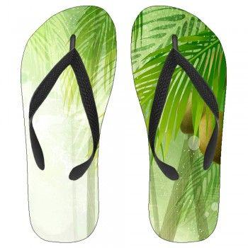Lush Coconut Tree Kids Flip-Flops