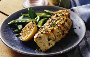 Grilled Lemon Garlic Halibut Steaks | recipes to try | Pinterest