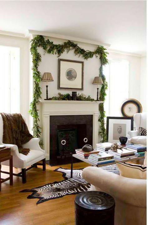 Living Room Beth Webb Veranda Holiday Decor Pinterest
