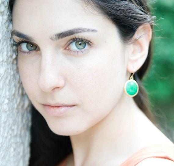#emerald #green statement #gemstone earrings