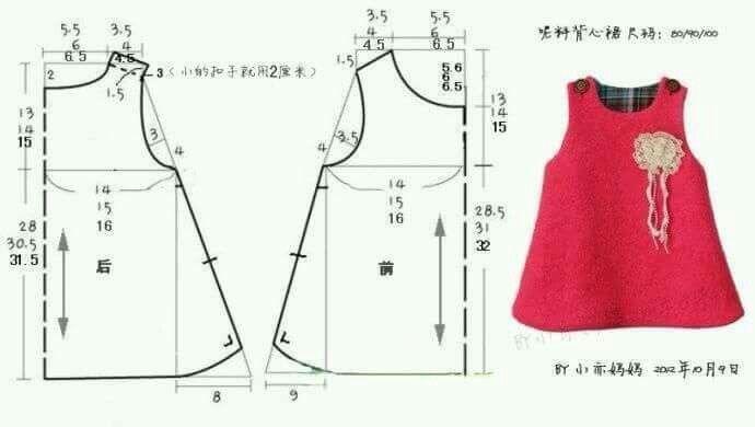 Как сшить платье на девочку на 1 год 17