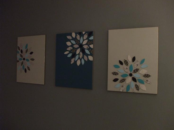 Diy Wall Art Using Scrapbook Paper : Scrapbook paper wall art crafts