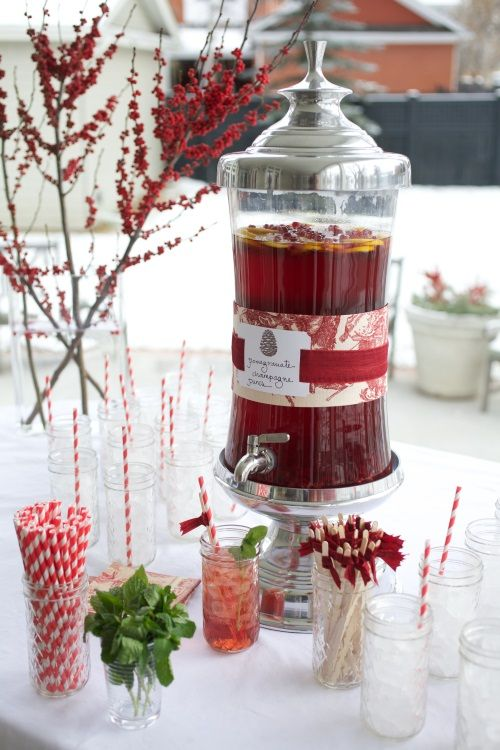 Recipe: Pomegranate Champagne Punch: Serves: 50 Ingredients 2½ cups ...