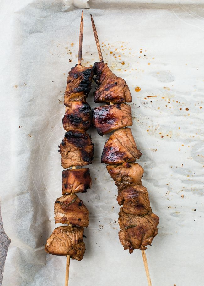 ... Kabobs 4 Ways. Love the balsamic thyme marinade. | HelloNatural.co