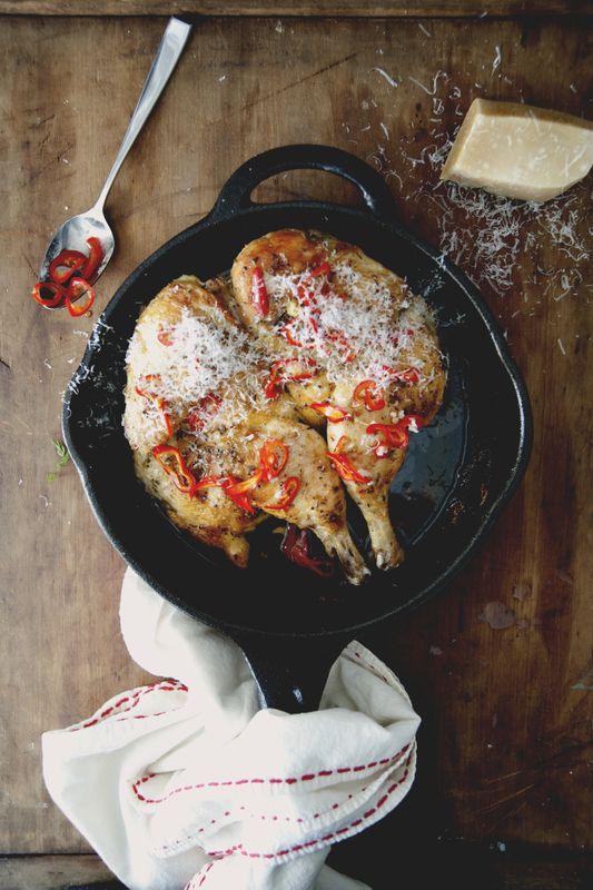 Pollo Al Mattone (Chicken Under a Brick) with Pickled Chilies ...