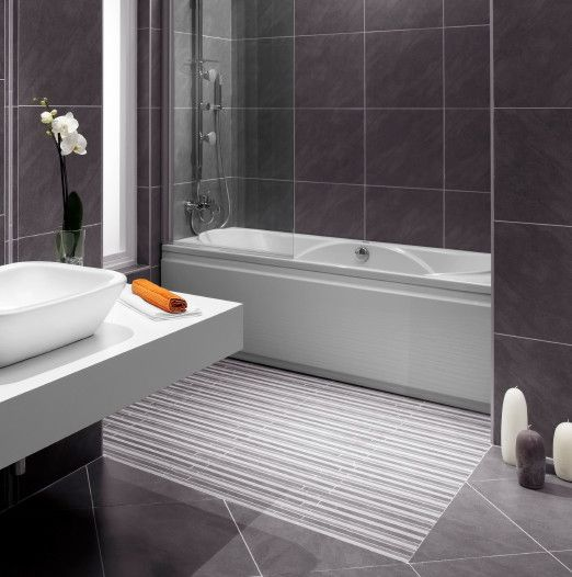 Tile that looks like a bathmat modern bathroom floor tile design
