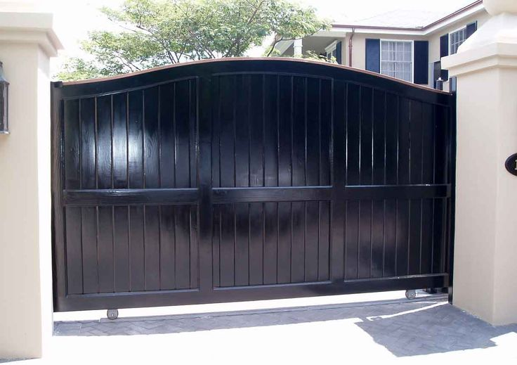 black wooden gates   Home Interior  The Wood Gate For Your Home  Black    Simple Wooden Gate Design