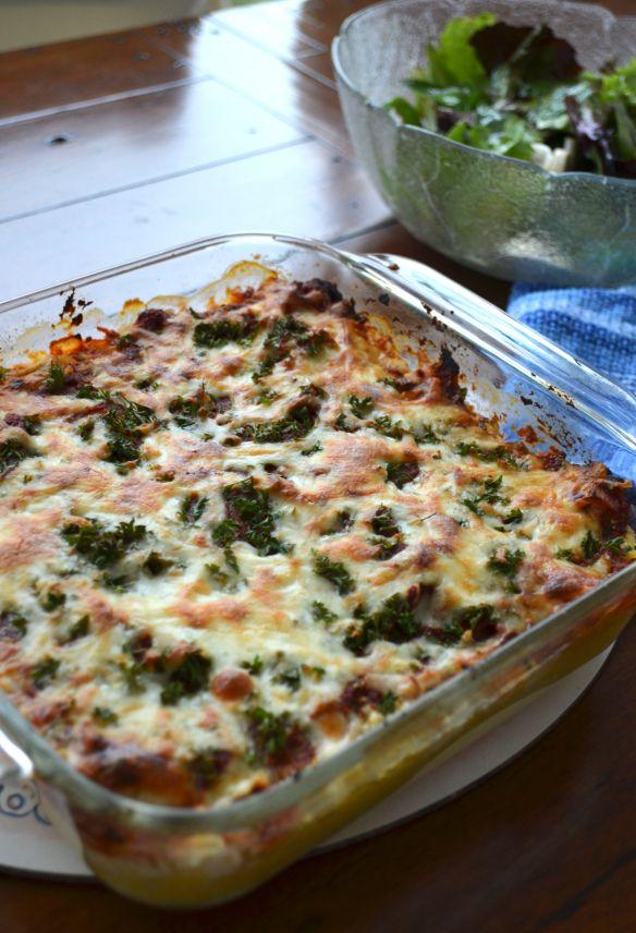Spaghetti Squash Lasagna Recipe — Dishmaps