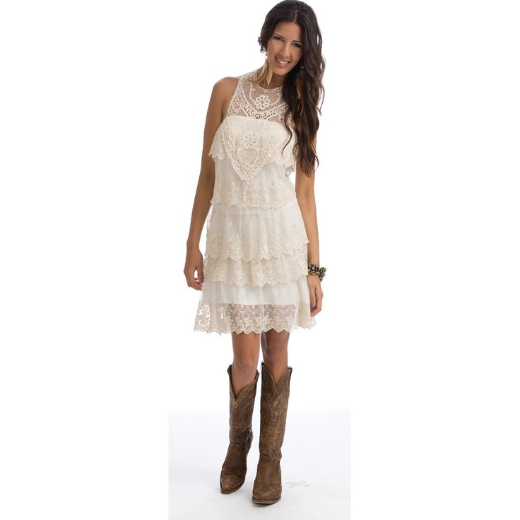Pin by rhonda napper on girls dress for wedding pinterest for Western lace wedding dresses