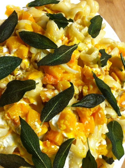 Butternut Squash And Fried Sage Pasta Recipe — Dishmaps