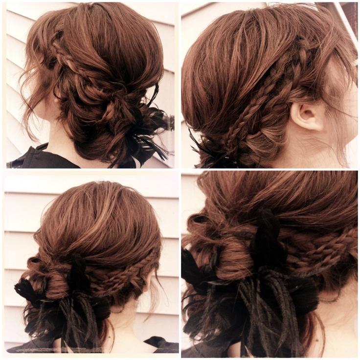 Loose Braid Updo Romantic, loose braided