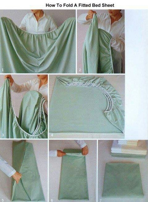 How To Fold A Fitted Bed Sheet Pinterest