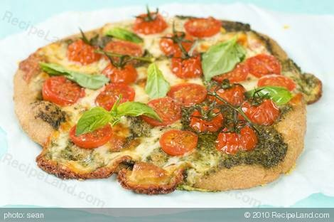 Basil Pesto Cherry Tomato Pizza | Recipe