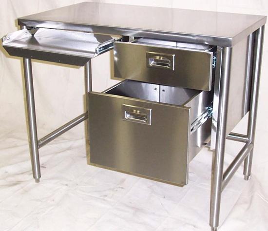 Stainless steel medical desk small desks pinterest Small steel desk