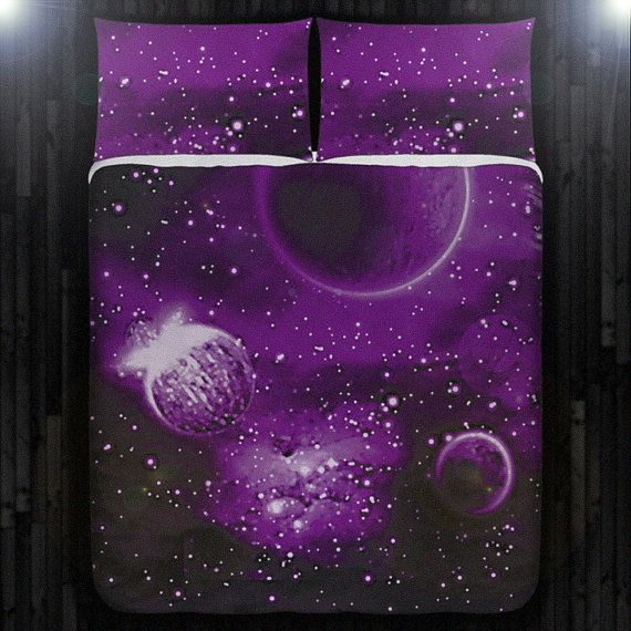 planet solar system outer space duvet cover bedding queen