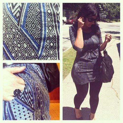 #thrifted top #pattern #black #rose #ring found at #fleamarket
