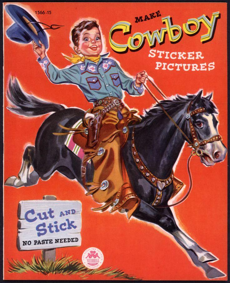 Uncut Merrill Archive Copy Make Cowboy Sticker Pictures 1566 1951 M124