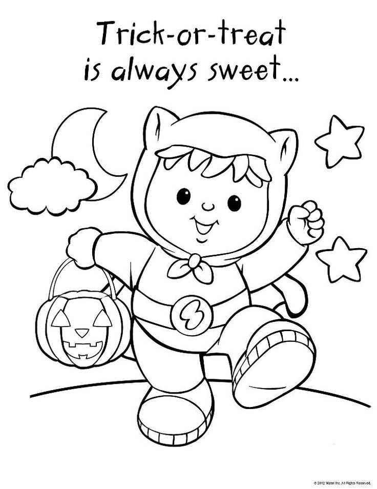 Little people halloween 2 coloring pages pinterest for Little people coloring pages