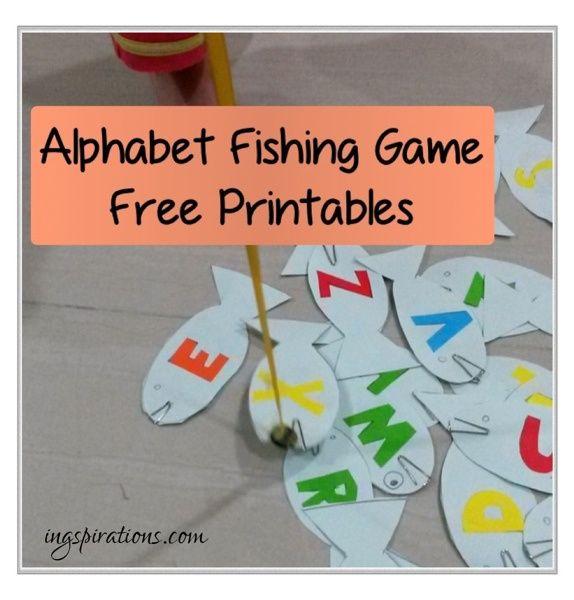 Alphabet fishing game free printables crafts pinterest for Fishing games free