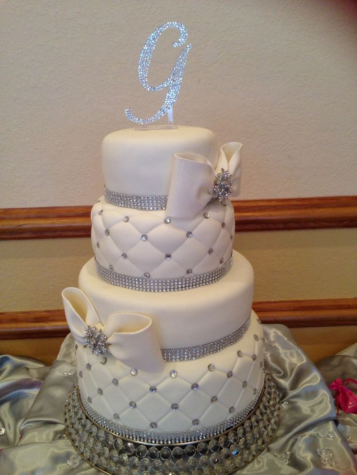 Bling Wedding Cake Wedding Pinterest