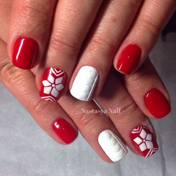 Дизайн свитерки на ногтях