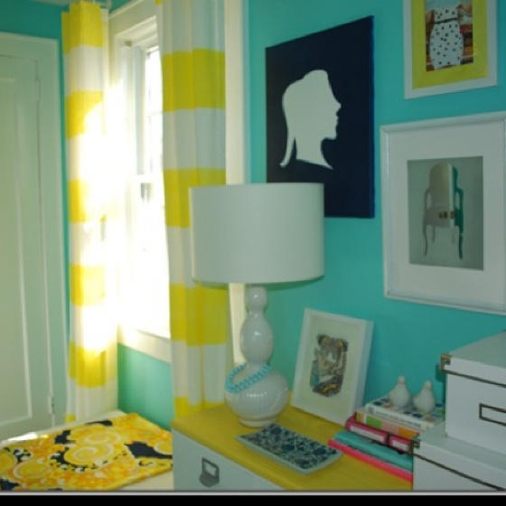 Yellow and white striped curtains cute amp artsy things for the home